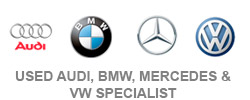 used audi, bmw, mercades & vw specialist